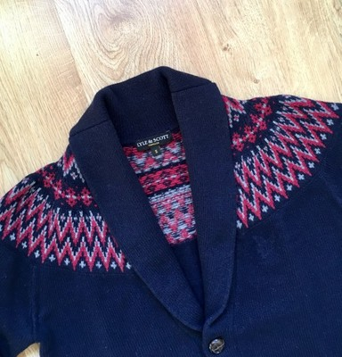 LYLE & SCOTT - LAMBSWOOL CARDIGAN - S - IDEAŁ