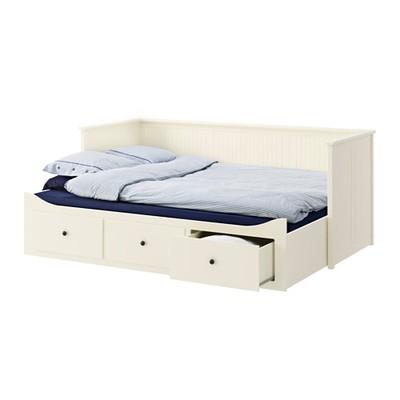 Ikea Hemnes łóżko Rozkładane 2 Materace Białe Sofa 6998134043