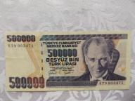 TURCJA 500000 LIRASI 1970 r.St. ( 2- )