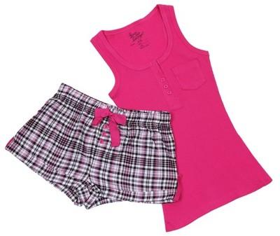 Różowa piżama w kratkę PRIMARK 42-44