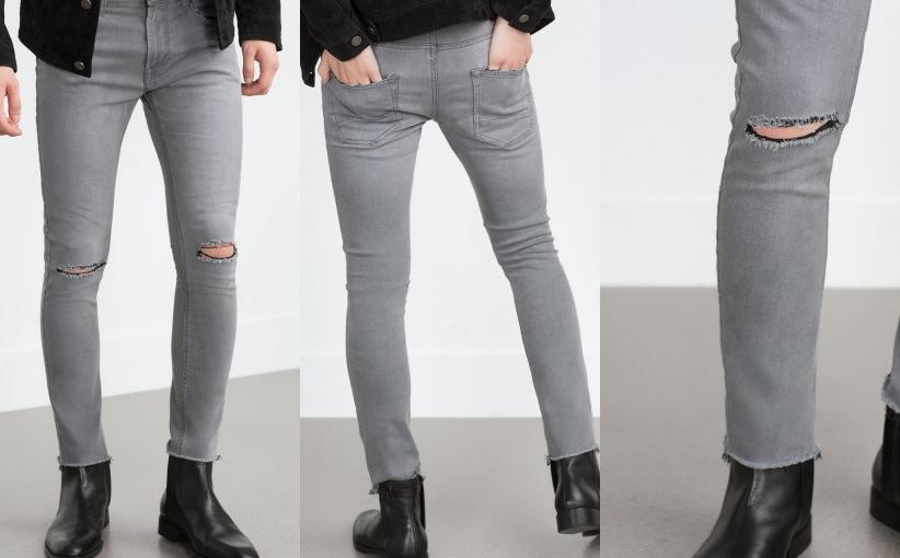 spodnie rurki męskie zara