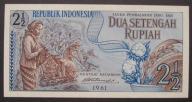 Indonezja - 2 1/2 rupiah - 1961 - stan UNC