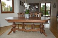 Stół dębowy po renowacji rozsuwany