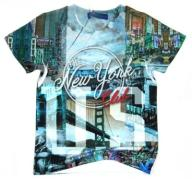 ~EKSTRA~672...Xero...t-shirt *NEW YORK* 134/140sky