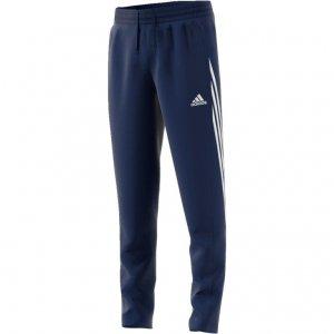 Adidas 3 stripes logo wąskie śliskie spodnie dresowe