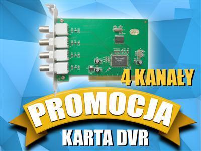 Karta DVR 4 x VIDEO polski SOFT monitoring D1_CCTV