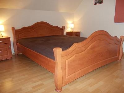 Komplet Sypialnia Gawin Retro łóżko Szafka X2
