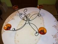 Świecznik na 4 świece, lampa, żyrandol, na prezent