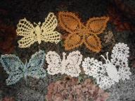 5 serwetek w kształcie motyli