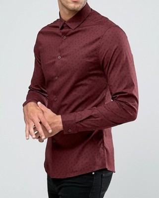 f27 koszula exASOS casualowa bordowa skinny XS