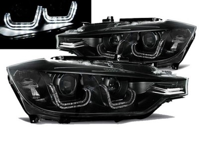 Lampy Reflektory BMW F30 F31 11-15 BLACK RINGI LED