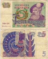 Szwecja, 5 Kronor 1969, P. 51a