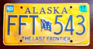 Alaska 2017 - tablica rejestracyjna USA