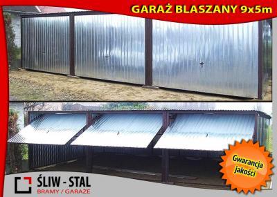 Garaż Blaszany Blaszak Trzy Stanowiska 9x5 Gorlice 5390599374