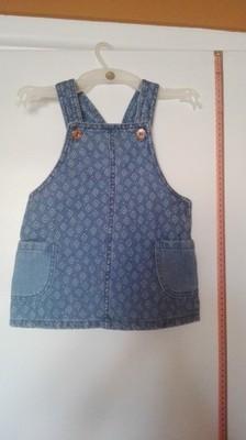Jeansowa sukienka na szelkach dla dziewczynki
