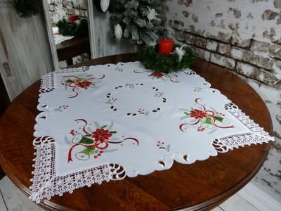 ZIK rodzinna serweta gipiura 85x85 biały PREZENT
