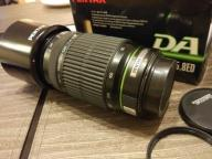 Obiektyw Pentax DA 55-300 mm F 4.0-5.8 ED z wadą