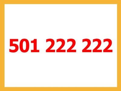 Złoty numer - 501 222 222 - Unikat