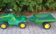 ZESTAW Jeźdźik ROLLY TOYS Traktor JOHN DEERE 6150R
