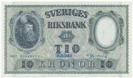 3953. Szwecja 10 kronor 1957 st.1-
