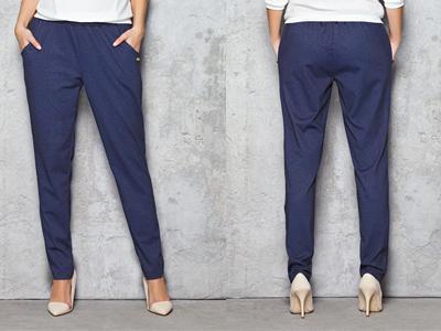 Wygodne Jeansowe Damskie Spodnie na Gumie XL 42