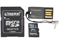Kingston microSDHC 8GB klasa 4+ czytnik kart
