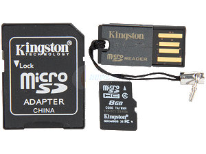 Kingston microSDHC 8GB klasa 4+ czytnik kart