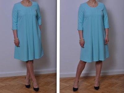 19490f52b7 Sukienka fason A TURKUS 46   48 (rozmiary 44-58) - 6289428796 ...