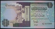 Libia - 1/2 dinara - 1990 - stan UNC