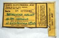 PKP Syrenka Warszawska-Kartka Zaopatrzenia MR 1981