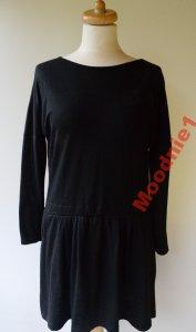 Sukienka Czarna Falbanka Baskinka Bik Bok XS 34 6500363675