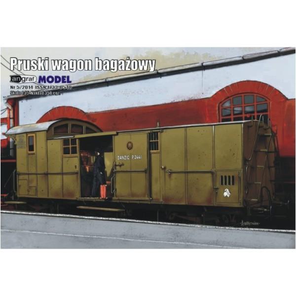 Pruski wagon bagażowy Angraf Model 1:25
