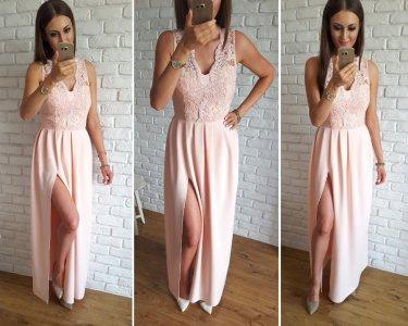 3b94d3fc8f Ekskluzywna długa sukienka S wesele druhny - 6454994322 - oficjalne ...
