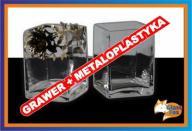 Wazon kwadrat + grawer i metaloplastyka Prezent !!