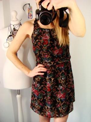 Sukienka ATMOSPHERE Kwiaty Koronka FOLK BOHO 34 XS