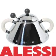 Cukierniczka ze stali nierdzewnej biała ALESSI