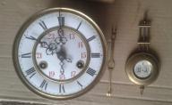starszy mały zegar mechanizm + gratis skrzynka
