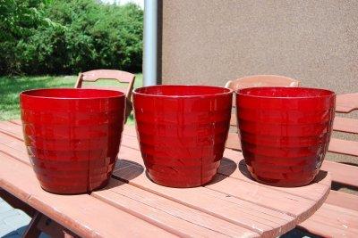 Donica Osłonka Na Doniczkę Ceramika Dark Red Obi