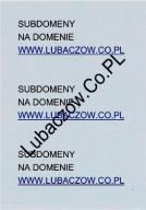 Subdomeny na domenie Lubaczow.Co.PL. moc subdomen