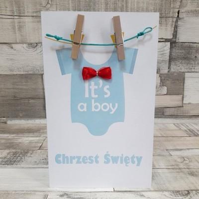 Zaproszenie na Chrzest It's a boy ZC10 Wedding-Art