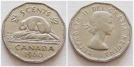 Kanada 5 centów 1960r