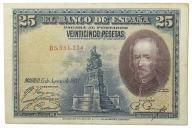 35.Hiszpania, 25 Peset 1928, P.74.b, St.3/3+