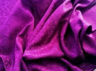 Tkany żakard purpurowy fioletowy