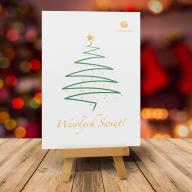 Kartka świąteczna z logiem + Koperta w zestawie!