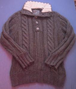 Next: ciepły męski sweter, wełna owcza, rozmiar L
