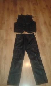 Komplet skórzany Kamizelka + spodnie