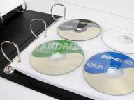 05146 Segregator na płyty 240 CD DVD skóra czarny