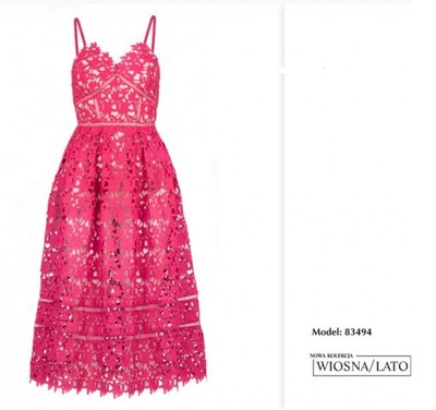 Suknia sukienka Yoshe Lavard Elegancka fuksja