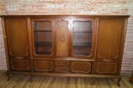 Biblioteka Witryna z rafią stylu Chippendale drewn