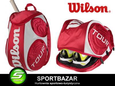 db3a7b45fd2fa PLECAK tenisowy WILSON TOUR LG  WRZ844296 okazja ! - 4637802309 ...